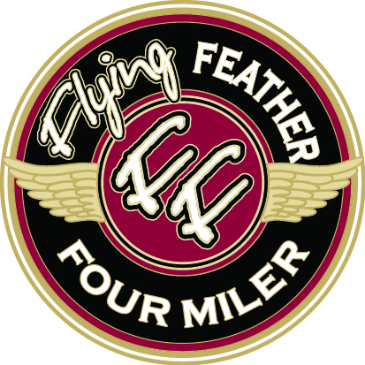 Virtual Flying Feather Four Miler logo