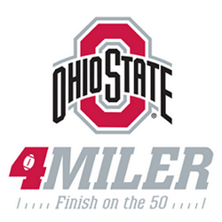The Virtual Ohio State 4 Miler logo